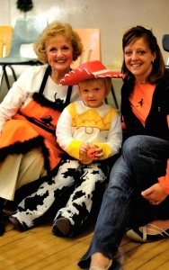 Marcia & Jody at a Halloween program